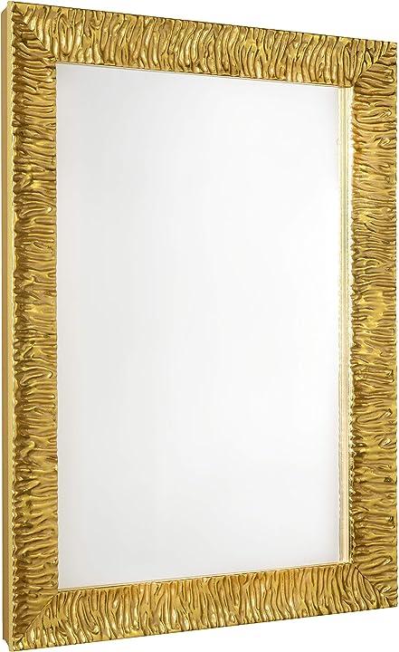 Specchio moderno da parete di altissima qualità – julie - 70x50 cm -  gaviastore B08JHH87BM