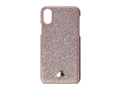 Kate Spade New York Glitter Inlay Phone Case for iPhone XS (Rose Gold) Cell Phone Case