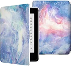 MoKo Case for Kindle Paperwhite, Premium PU Leather Cover with Auto Wake/Sleep Fits All Paperwhite Generations Prior to 2018 (Will not fit All-New Paperwhite 10th Generation), Dreamy Nebula
