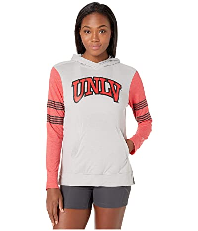 Champion College Unlv Rebels Color Blocked Long Sleeve Hoodie (Cool Grey/Athletic Red) Women