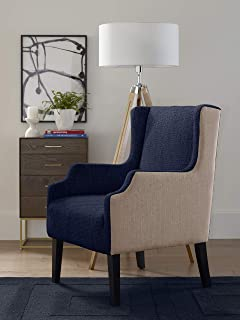 Tommy Hilfiger Barton Wingback Chair, Mid Century Modern Accent Furniture for Living Room,...