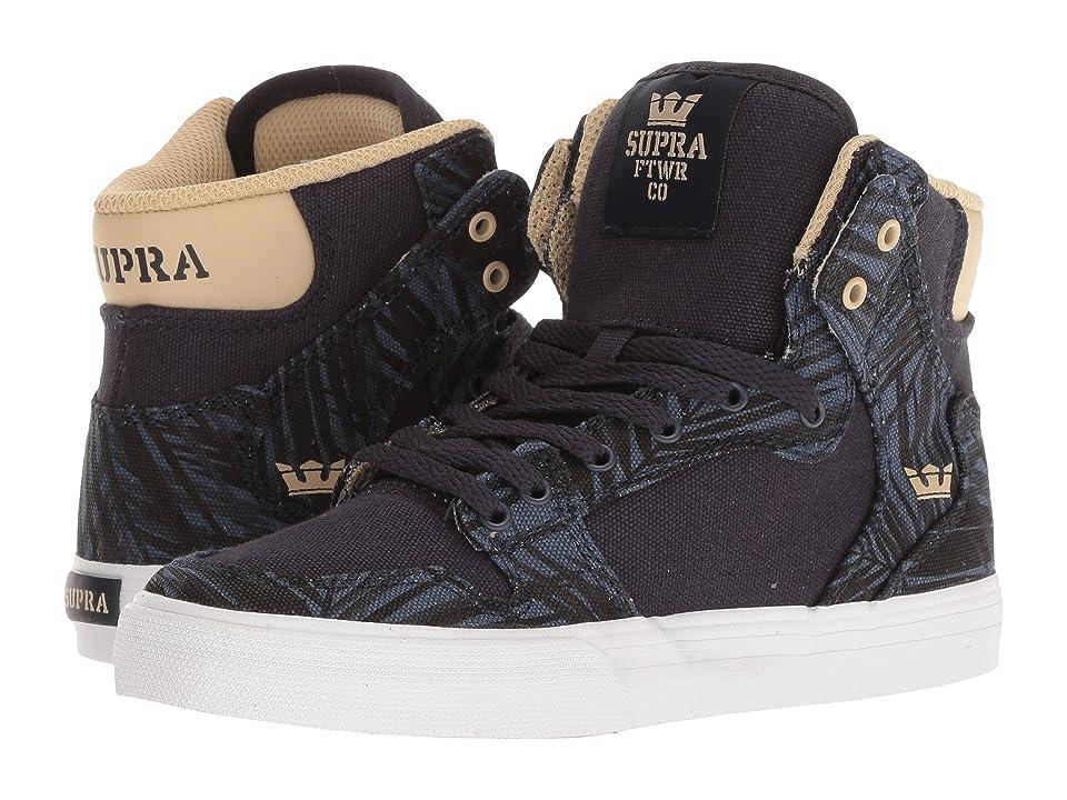 Supra Kids Vaider (Little Kid/Big Kid) (Navy/Mojave/White) Boys Shoes