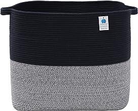 Mega Size Extra Large Rectangular Storage Basket, Cotton Rope Storage Baskets, Woven Laundry Hamper, Toy Storage Bin, for ...