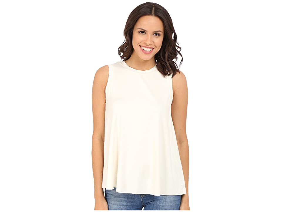 Three Dots Keiko Sleeveless Drape Tank Top (Gardenia) Women