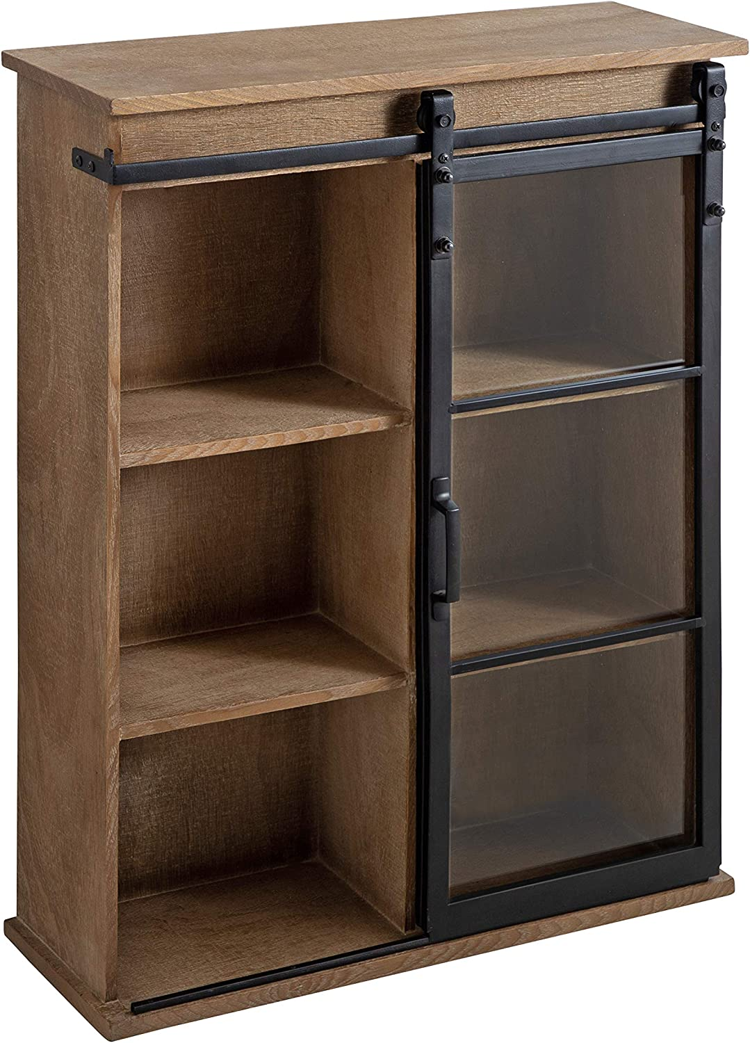 Kate and Laurel Barnhardt Decorative Cabinet Sl Wall Chicago Mall Wooden with Free Shipping New
