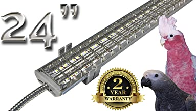 M&M Cage Company EZ PetLight with ChewGuard - 24 Inch LED, Full Spectrum for Parrots and Hook Billed Bird Cages