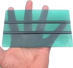 スケルトン 半透明グリーンBIGスキージー W160㎜xH90㎜大型 高級ウールブラックフェルト付 モスグリーン色