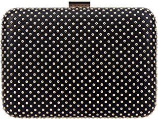 Bonjanvye Rivet Wedding Evening Party Clutch Purses for Women Clutches