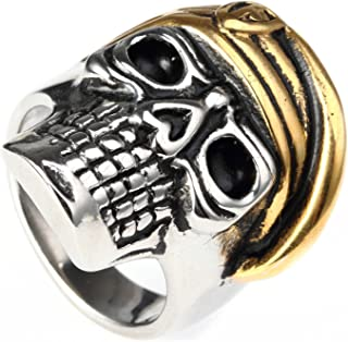 États-Unis USA vétéran armée homme or Acier Inoxydable Noir Onyx Gemstone Ring