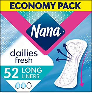 Nana Panty Liners, Long, Pack of 52