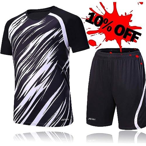 b0097bede15 Akilex Football Uniform Football Shirts Football Jersey For Men Soccer  Shorts Set Football Kits Training 100