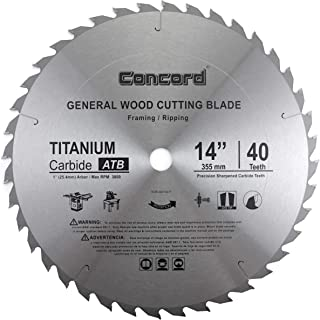 Concord Blades WCB1400T040HP 14-Inch 40 Teeth TCT General Purpose Hard & Soft Wood Saw Blade