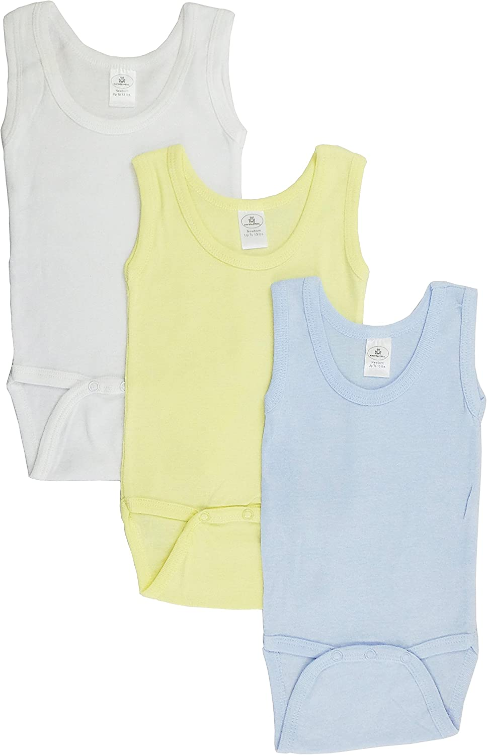 Bambini Boys Tank Top Onezies (Pack of 3)