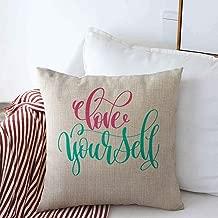 Starosa Pillow Case Script Quotes Love Yourself Hand Lettering Positive Brush Self Artistic Believe Black Design Decorative Farmhouse Throw Pillowcase Covers 20