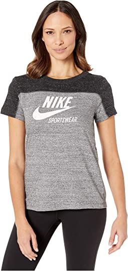 bd0a419c997a Black Carbon Heather Cool Grey Sail. 29. Nike. Sportswear Gym Vintage Top  Short Sleeve Graphics.  40.00