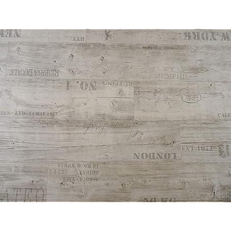 Meterware - Eiche Natur edle Holzoptik Oberfl/äche strukturiert gesch/äumt casa pura/® CV Bodenbelag Mombasa 100x450 cm extra abriebfester PVC Bodenbelag