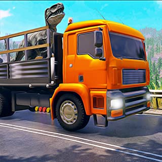 Angry Dino Zoo Transporter Truck: Deadly Dino Shores