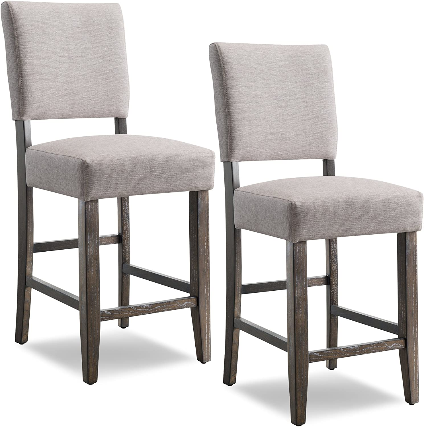 Leick Upholstered Back Counter Height Barstool Set of 9, Grey
