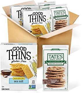 Sponsored Ad - Good Thins Sea Salt Corn & Rice Snacks Gluten Free Crackers & Tate's Bake Shop Thin & Crispy Gluten Free Ch...