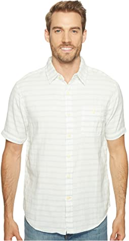 Indigo Surf Plaid Short Sleeve Shirt