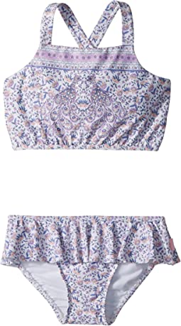 Seafolly Kids - Peacock Paisley Tankini Set (Toddler/Little Kids)