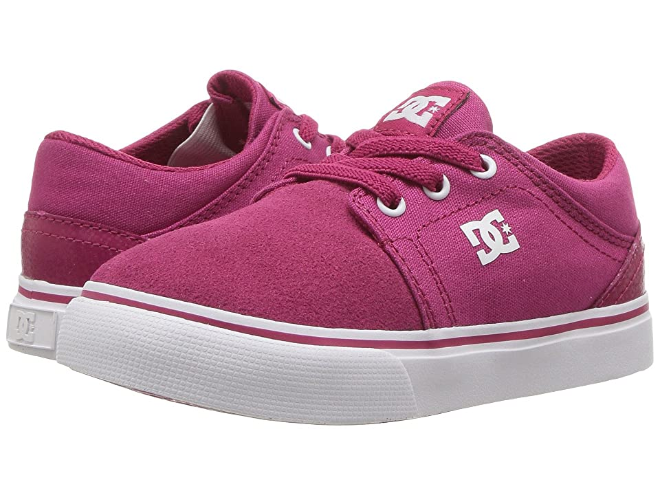 DC Kids Trase Slip (Toddler) (Raspberry) Girls Shoes