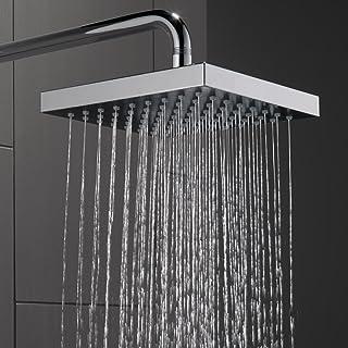 Delta Faucet Single-Spray Touch-Clean Rain Shower Head, Chrome 52841