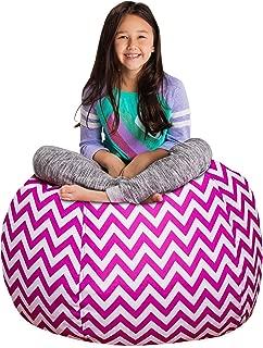 Posh Stuffable Kids Stuffed Animal Storage Bean Bag Chair Cover - Childrens Toy Organizer, Large 38
