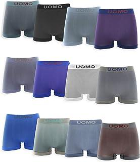 comprar comparacion Boxers de Licra Sin Costuras de Topos Suaves y Cómodos para Hombre. Pack de 12 Calzoncillos