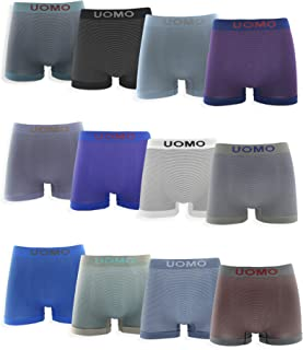Pack de 12 - Calzoncillos Boxer Lycra sin Costuras con Rayas horizontales