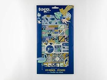 Toga RU92 Cabinet de Curiosit/és Lot de 6 Rubans imprim/és Coton Beige 1,5 x 90 x 0,1 cm