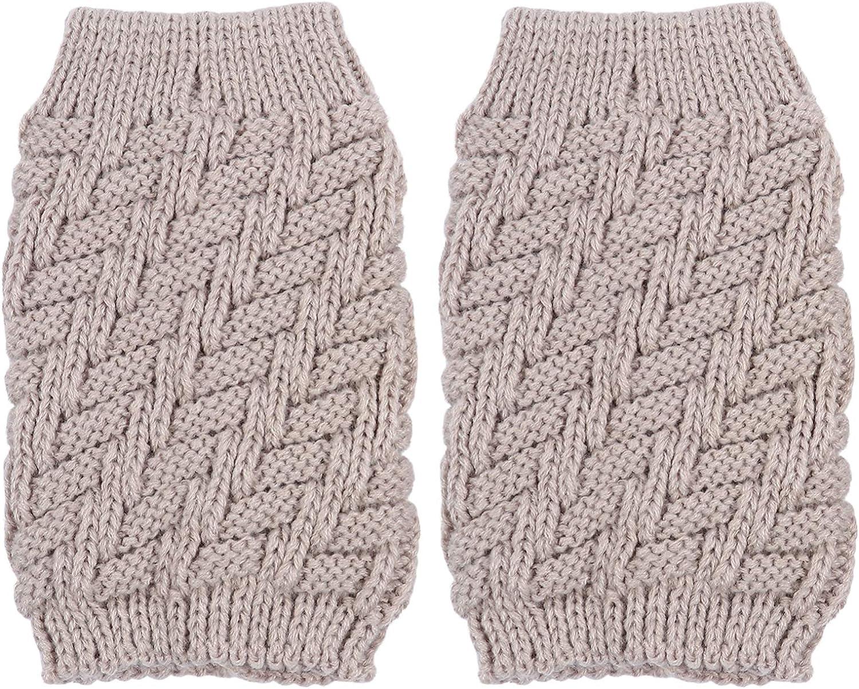 VALICLUD Crochet Knitted Short Leg Warmer Winter Warm Boot Socks Cuffs Boot Toppers for Women Girls