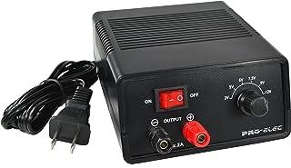 Battery Eliminator, Power Supply, AC to DC, 3V, 5V, 6V, 7.5V, 9V, 12V Outputs 2 AMPS Regulated DC Power