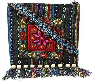 حقيبة كتف أصلية فريدة من نوعها من JAGETRADE مطرزة بشرابة بوهو هيبي