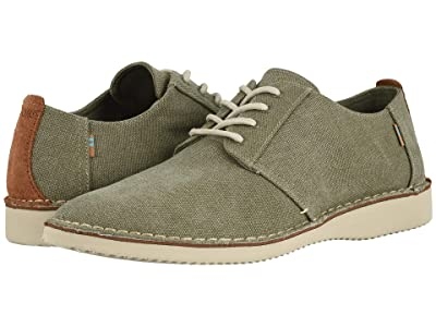 TOMS Preston (Tarmac Olive Washed Canvas/Stitch Out) Men