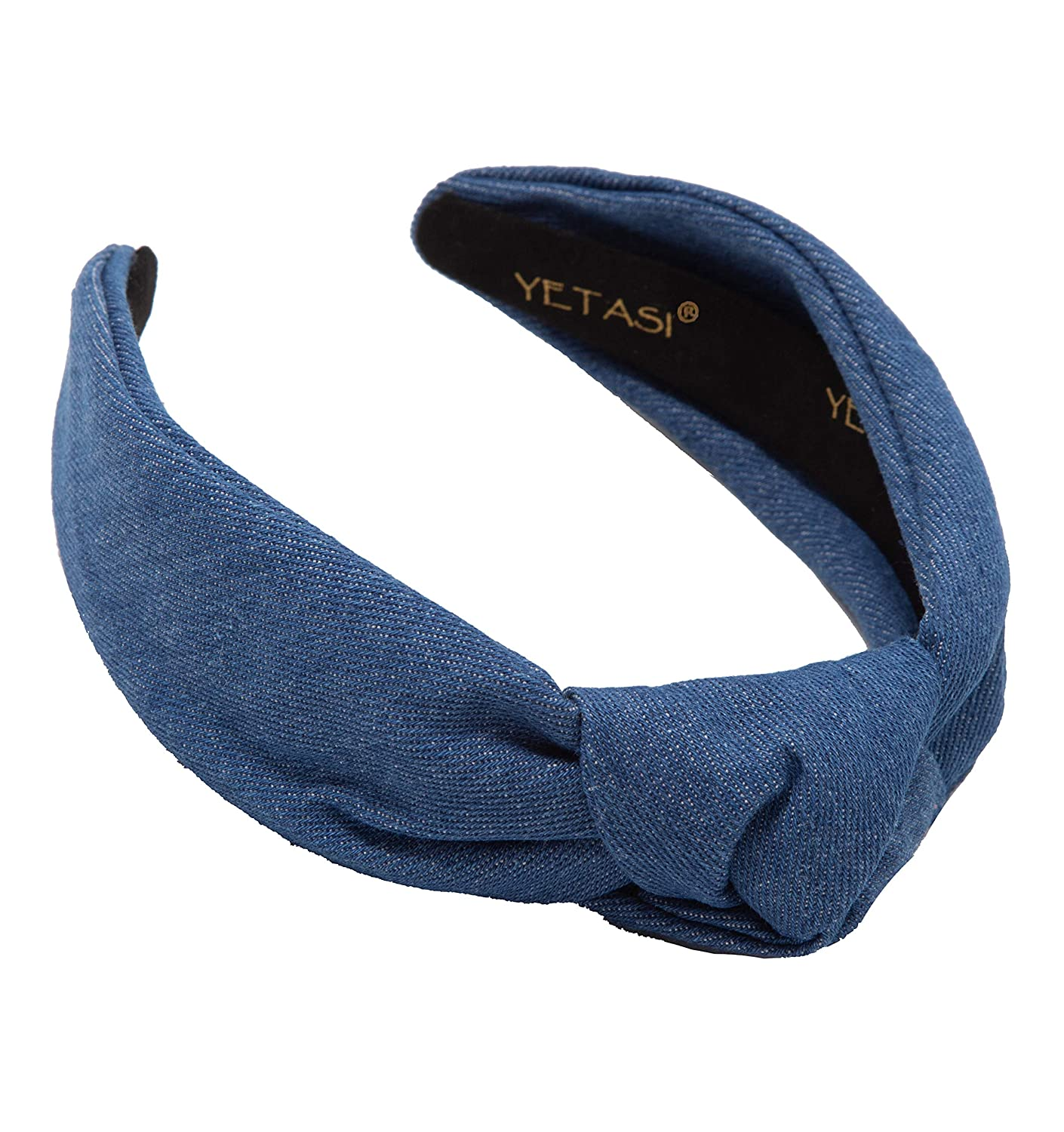 Miami Mall Knotted Regular store Headband for Women Hair Denim Unique is Blue Accessories
