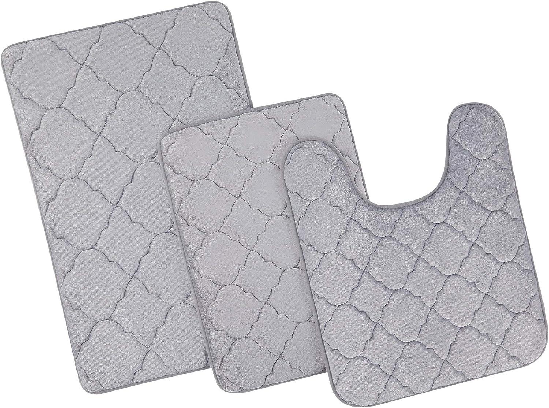 CO-Z 3pc Memory Foam Bathroom Rug Velvet Dry Set Ba online shop Plush Quick NEW before selling ☆