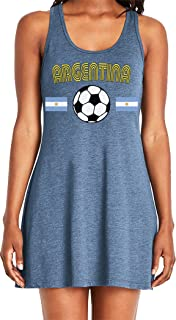 Amdesco Ladies Argentina Soccer, Football, Argentine Futbol Casual Racerback Tank Dress