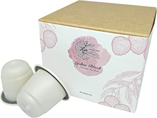 Viśeṣa Lychee Black Tea Pods – Artisanal Blends Made with Real Black Tea Leaves and Natural Lychee Flavour Extracts. Pack ...