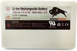 AVIMABASICS 1250mAh 3.7V Li-Ion Battery Compatible with Logitech Logitech Harmony 915 1000 1100 1100i L-LU18 LU18 C-LR65 Squeezebox Duet Controller | 190582-0000 F12440056 K398 L-LU18