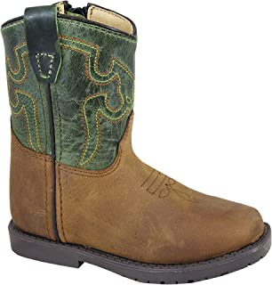 Smoky Mountain Toddler Autry Sq Toe Boots 8 Green