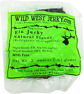 BEST Exotic Pack - 3 Types of Wild Game Jerky – Elk Buffalo Venison Jerky - 100% Natural Grass Fed Hand Stripped Thick Cut Delicious Flavor Jerky – 6 Total oz. (Wild Game Natural, 6 oz.)