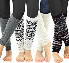 TeeHee Gift Box Women's Fashion Leg Warmers or Leg Warmers with Boot Topper combo Assorted Multi Pair