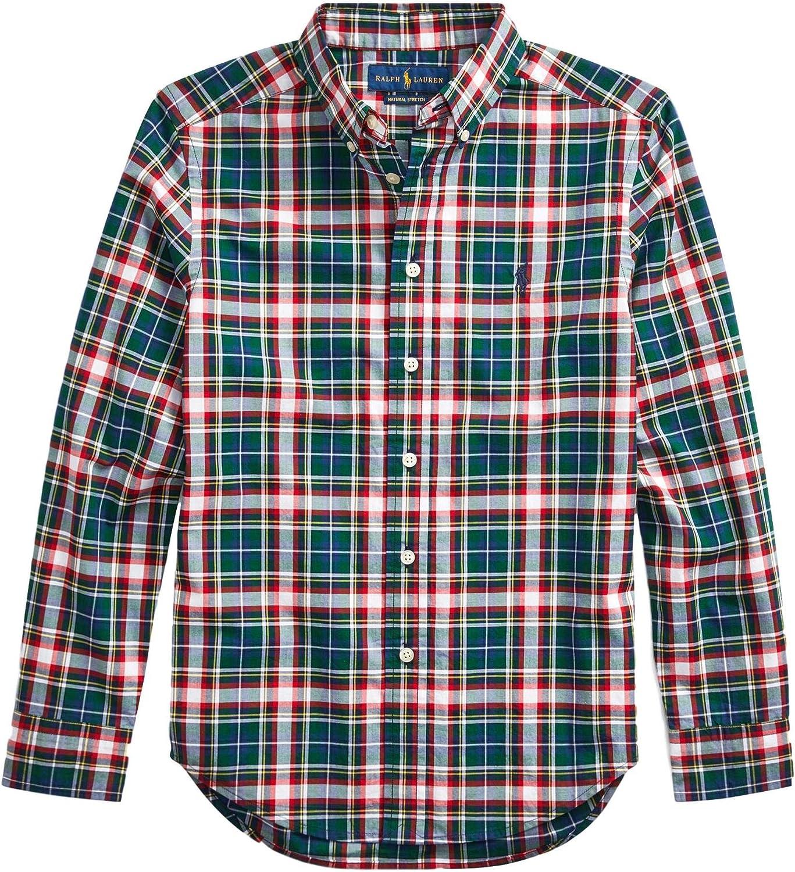Polo Ralph Lauren Kids Boy's Cotton Poplin Shirt Plaid Recommended Cheap bargain Big