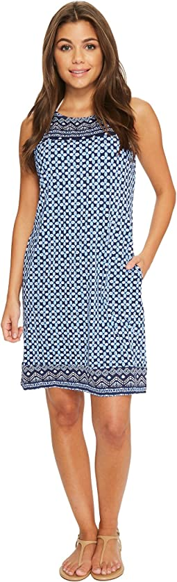 Indigo Cowrie Swim Dress Cover-Up