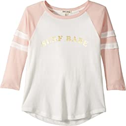 Billabong Kids - Surf Babe Baseball Tee (Little Kids/Big Kids)