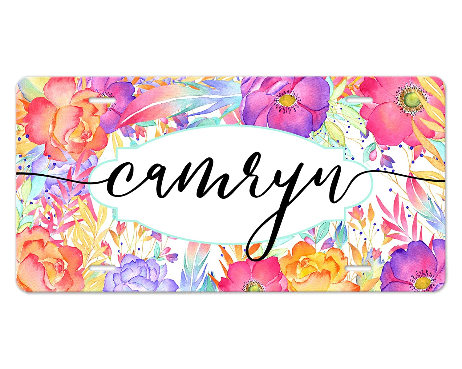 Made-to-Order Vehicle Tag Floral Ranking TOP2 Many popular brands Colorful Design