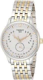 Tissot Dress Watch Analog Display Quartz For Men T063.637.22.037.00, Silver Band