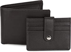 Allen Solly Brown Leather Men's Wallet Gift Set