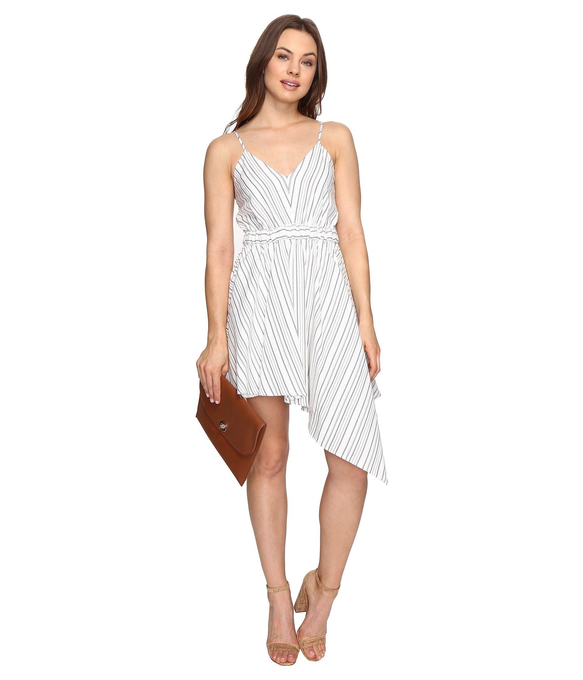 STYLESTALKER Keira Mini Dress in Grey Linear